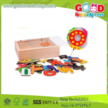 Novos Brinquedos para crianças Geladeira Brinquedos de madeira magnéticos