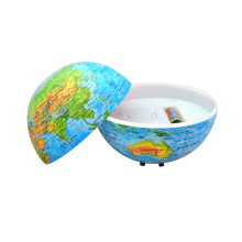 Globe terrestre circulaire avec pays
