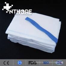 esponja de gasa lavada abdominal de algodón hemostático