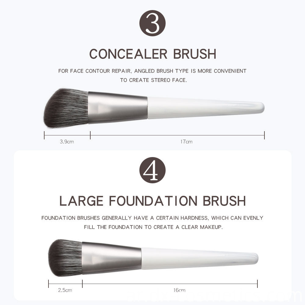 12 Piece Bunch Flower Makeup Brushes detail-2