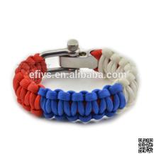 2016 bracelete quente do paracord do kit da sobrevivência da venda alibaba recomendam a boa vinda para requisitar