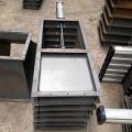 Robinet-vanne en acier au carbone pour la manipulation des cendres