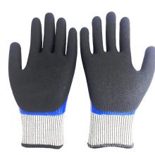Sandy Nitrile Outer Smooth Nitrile Inner Coating Non-Slip Sandy Nitrile Gloves
