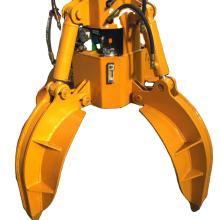 Grappin hydraulique à peau d'orange à rotation à 360 degrés à 5 dents