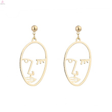 Alloy Fashion Vintage Abstract Statement Face Earrings
