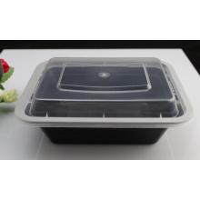 Schwarze Farbe Mikrowelle sicher Kunststoff Einweg Lebensmittelverpackungen