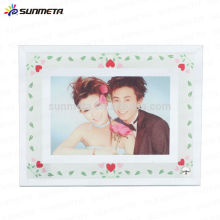 Chinese supply Wholesale sublimation glass photo frame, black photo frame for 3D vacuum machine