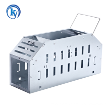 Silver single-door mousetrap cage with nice design