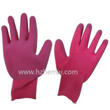 Gants de jardin colorés Foam Latex Palm Coated Safey Work Glove