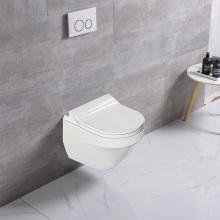 Toilette suspendue murale en or