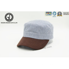 New Style Custom Striped Cotton Army Military Cap