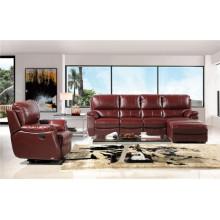 Sofá 1 + 2 + 3 com sofá de couro reclinável manual