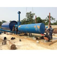 Ahorro de energía equipo de pirólisis de alta eficiencia de residuos de caucho / plástico