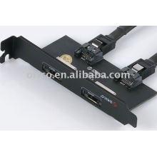 Placa de defletor PCI-E da ORICO PST-2E com interface e-SATA