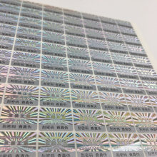 Nice Printing Waterproof Anti-Fake 3D Laser Security Hologram Sticker