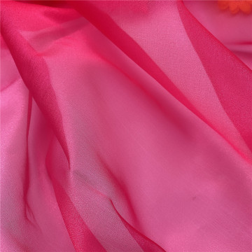 Sparkle Organza Tulle Vải Fuschia cho Lady Dress