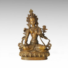 Buddha-Statue Weiße Tara-Bronze-Skulptur Tpfx-B62
