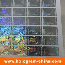 Пломбировочная 3D лазерное прозрачный серийный номер голограммы стикер