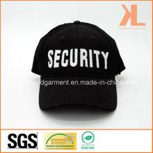 Хлопковая дрель Военная черная защитная вышивка Бейсбольная кепка