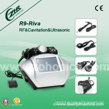 6 In1 Kavitation Vakuum Monoplolar RF Bipolar RF Multi Polar RF Schönheit Apparat