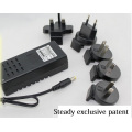 Desktop Type Power Adapter Verwisselbare plug 12VDC 1A