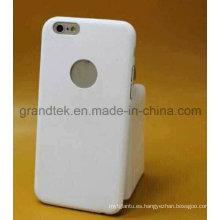 Estuche móvil ultrafino de la PU para el caso iPhone6 libre de hacer el logotipo