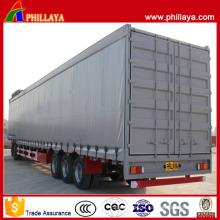 3 Achsen-niedriger Bett-Fracht-Transport-Vorhang-Seiten-halb Anhänger