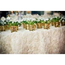 раунд уникальный атласные скатерти для украшения свадьбы