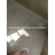 Folha transparente de PVC fosco super grosso transparente