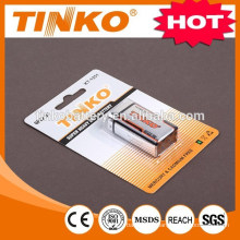 Carbon Zinc Battery 6F22 9V with competitive price and good performance