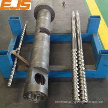 PE, PP, processamento de PVC extrusora barrel rosca dupla