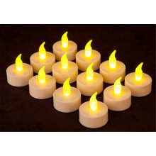 Con pilas Ámbar LED Tealight Velas sin llama sin parpadeo Heatless sin mejilla