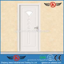 JK-P9076 White PVC Laminate Kitchen Cabinet Glass Door