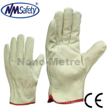 NMSAFETY light yellow cow grain leather working gloves