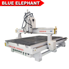Pneumatic engraving machine cnc router 2030 auto tool change with 3 spindles
