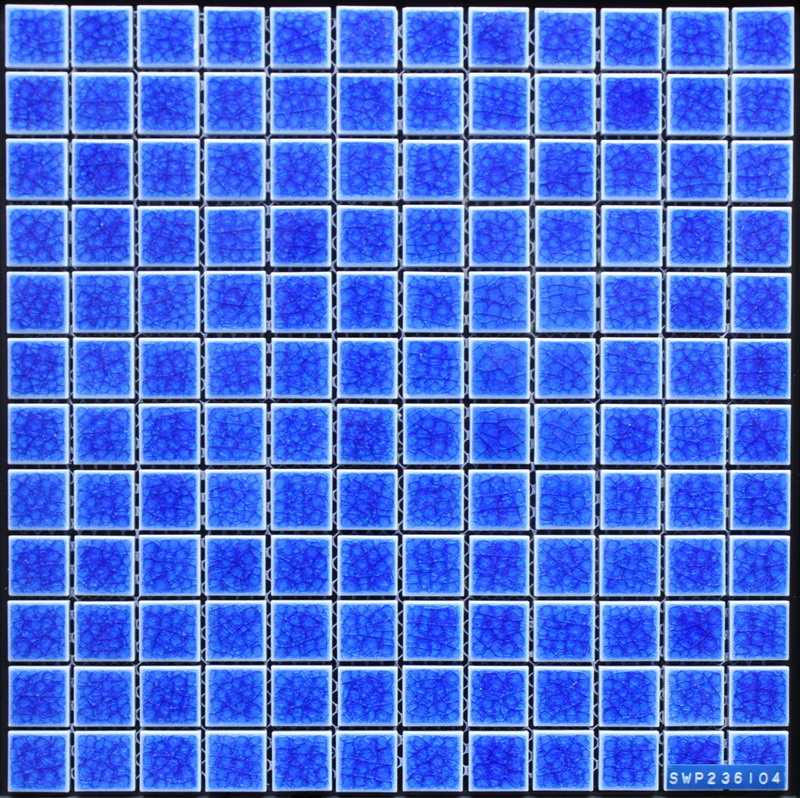 23x23mm Chip Blue Porcelain Pool Paving Mosaic
