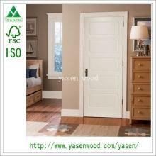 Porta de madeira composta branca do projeto da amostra