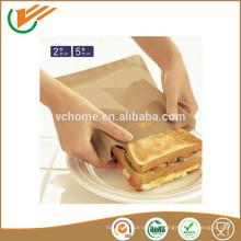 Sac à griller en PTFE réutilisable antiadhésif réutilisable, sacs à toas, sandwich facile