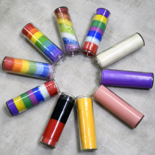 Rainbow Color Spiritual 7 Day Chakra Candles