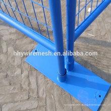 geschweißter vorübergehender Zaun PVC beschichtet vorübergehender Sperrkettenlink vorübergehender Zaun