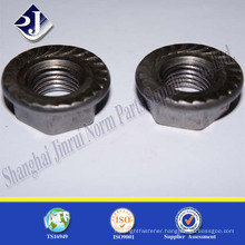 plain surface cold forged hex flange nut