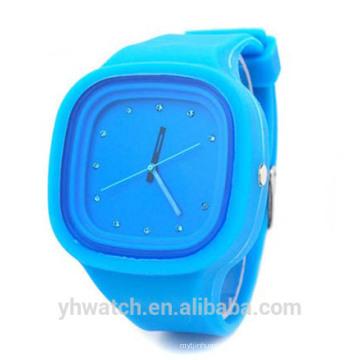 Heiße japanische Marken Stein Quarz Japan movt Armbanduhr Silikon