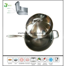 Stainless Steel Honeycomb Design Wok