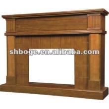 Lareira elétrica de madeira maciça