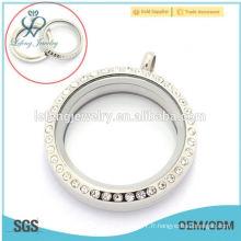 Design de bricolage à la mode 25mm / 30mm ronde en argent / vis en alliage de luxe en verre flottant charme pour garçons et filles