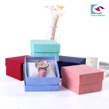 Premium retangular caixa de jóias de papel kraft pequenas caixas de anel da caixa atacado a granel