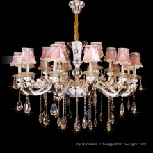 Une bougie en cristal brillant éclairage lustre en cristal empire 88630