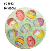 Ceramic Handpainted Egg Serving Pan