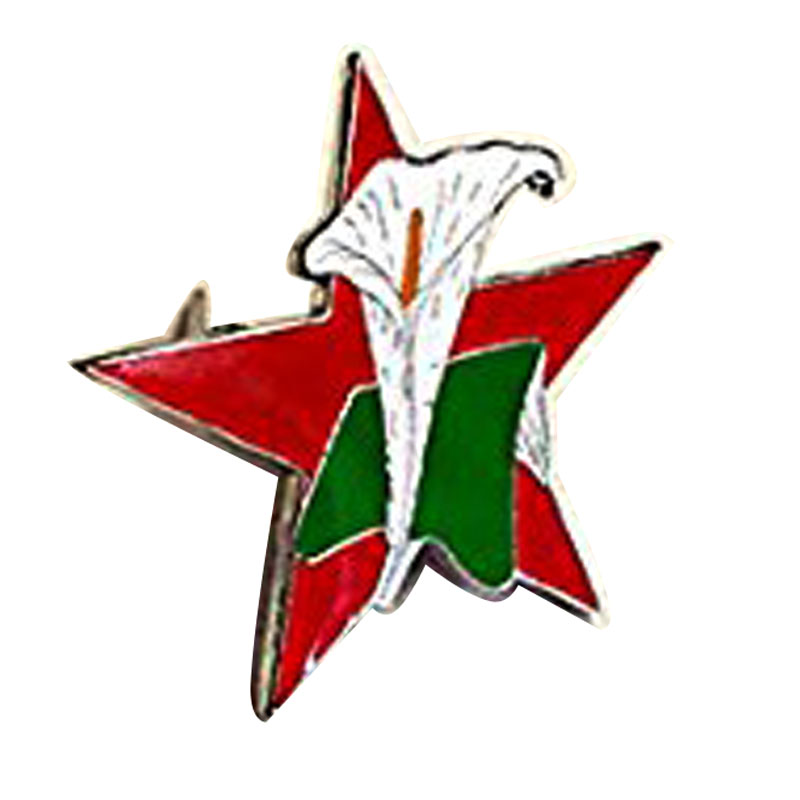Red Star Easter Lily Enamel Pin