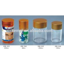 Pill bottle table bottle Screw cap bottle garrafa de plástico vazia